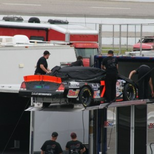2012 Ryan Heavner Rev-Oil Pro Cup Series (Myrtle Beach Speedway) Unloading For Sunday