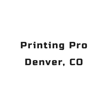 Printing Pro Denver Co