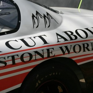 Ryan Heavner 2015 A Cut Above Stoneworks Car Sponsors