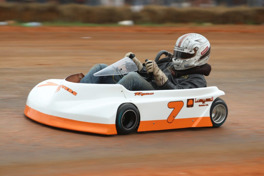 Ryan Heavner Hooters kart